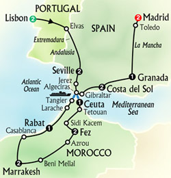 Map Of Spain Morocco And Portugal.Travel To Spain Morocco And Portugal Joshymomo Org
